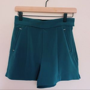 H&M Teal Tailored Shorts